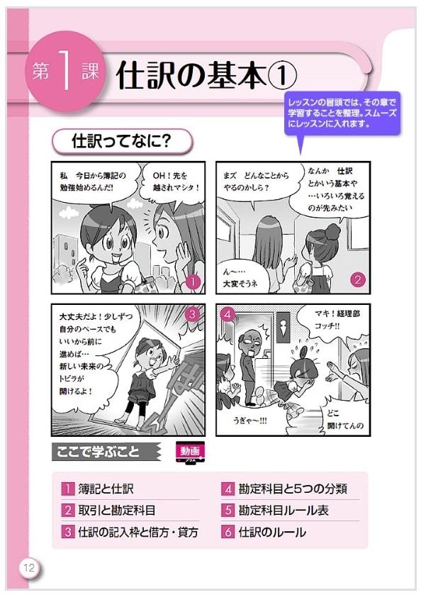ユーキャンの日商簿記通信講座のテキスト