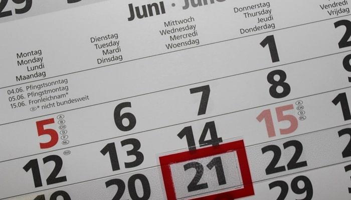 日商簿記検定の試験日程